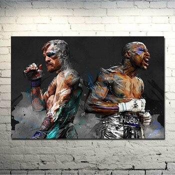 Conor McGregor мотивационный боксерский Шелковый или Холст плакат 13x20 24x36 дюймов картина для декора гостиной-026
