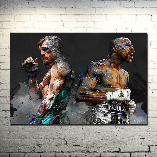 Conor Mcgregor Ufc Motivational Boxing Silk Canvas Poster 13×20 24×36 Inch Picture Living Room -026