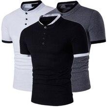 Zogaa Hot Sale Men Casual V-Neck Button Tops&Tees Fashion Long Sleeve Streetwear Funny Slim Fit T-shirt Male slim fit v neck long sleeve button tee