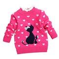 Crianças Camisola crianças Camisola de Inverno para As Meninas Do Bebê Da Menina camisola caricatura Cardigan