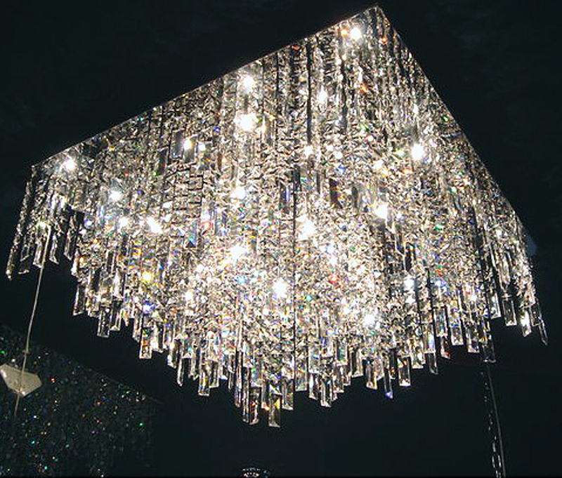 T Remote control Luxury Crystal Fashion Ceiling