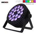Die Beste Qualität Aluminium Legierung LED Flach Par 18x12W Led leuchten RGBW LED Beleuchtung DMX512 Disco Lichter Professionelle bühne DJ Ausrüstung-in Bühnen-Lichteffekt aus Licht & Beleuchtung bei