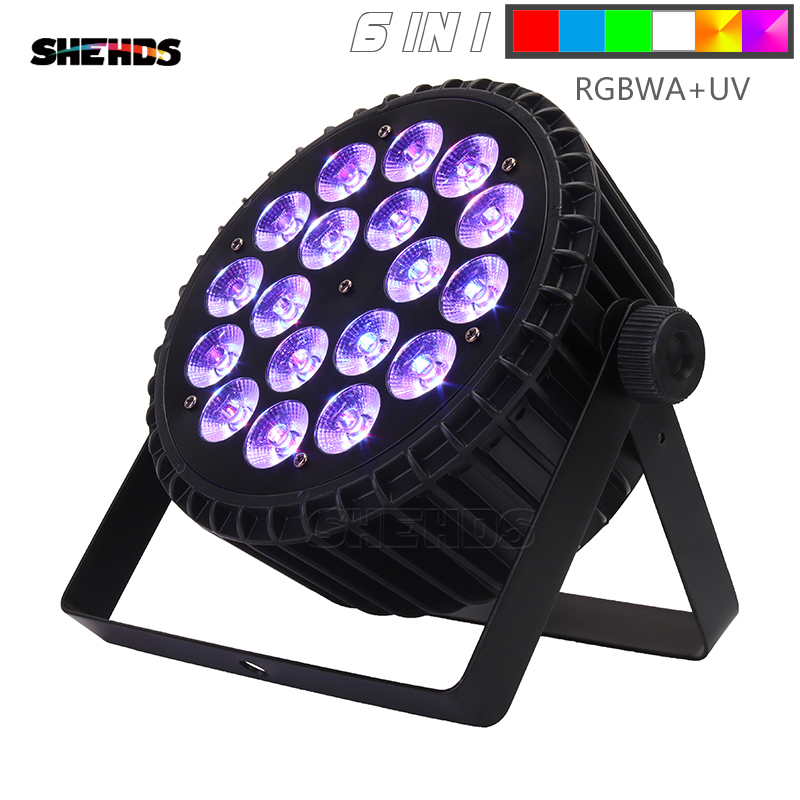 The Best Quality Aluminum Alloy LED Flat Par 18x12W Lights RGBW LED Lighting DMX512 Disco Lights Professional Stage DJ Equipment