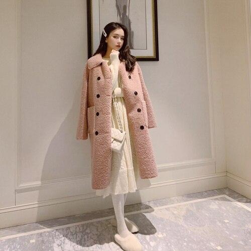 Chic   Trench   Coat For Women Hepburn Women's Windbreaker Casual Casaco Feminino Lambswool Coat Female Clothes Feminino Coats