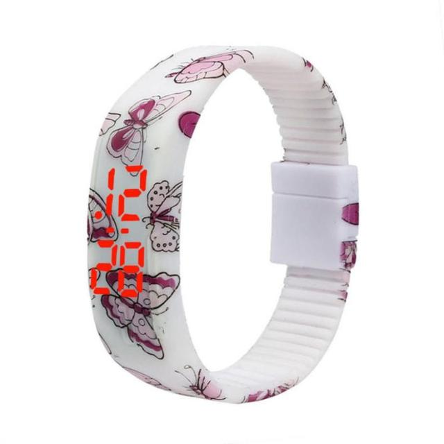 Fantastic relogio masculino Unique design butterfly porcelain Painted Silicone L