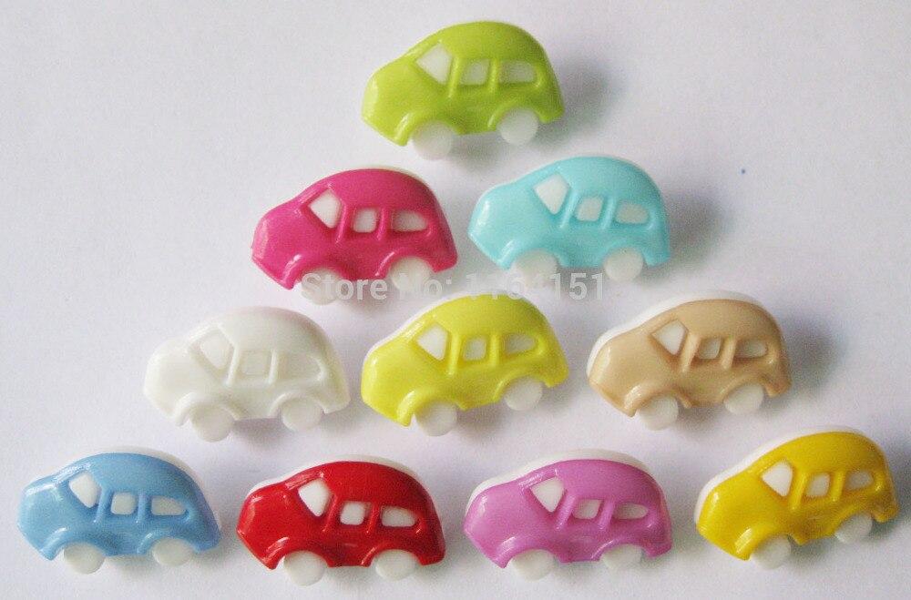 200pcs Fashion Mixed Car accessories Train Shape Button 17mm*11mm Plastic Sewing Mini Button Garment Button sk0178