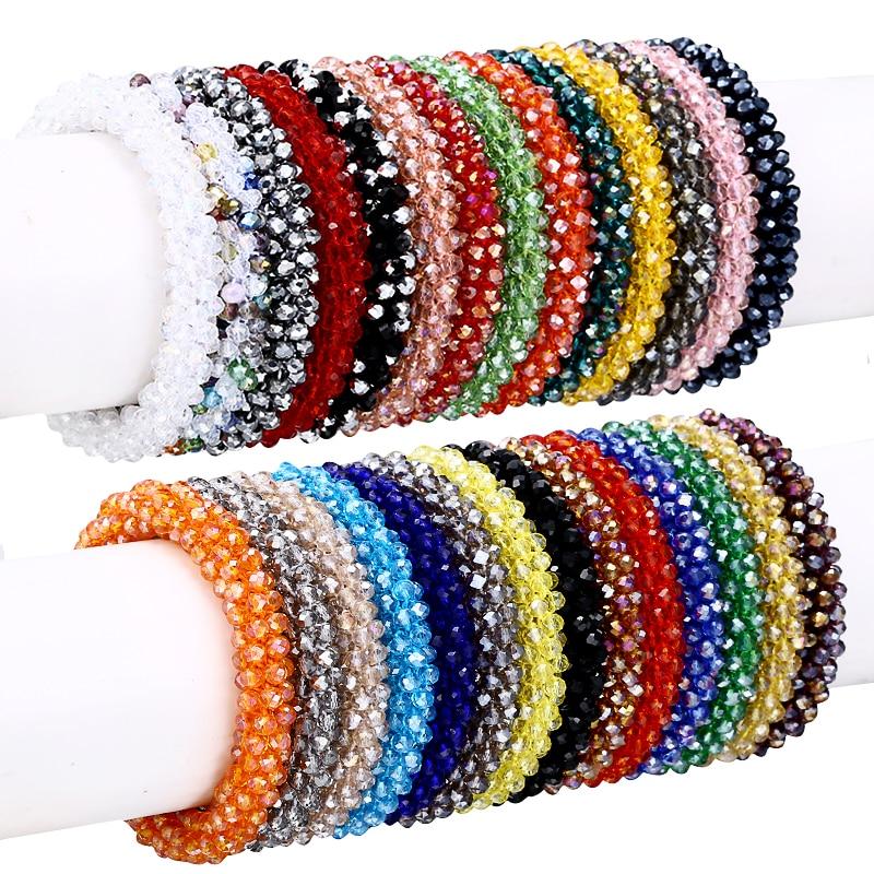 Nepal Bracelet Crystal Glass Seed Bead Roll Handmade Bracele
