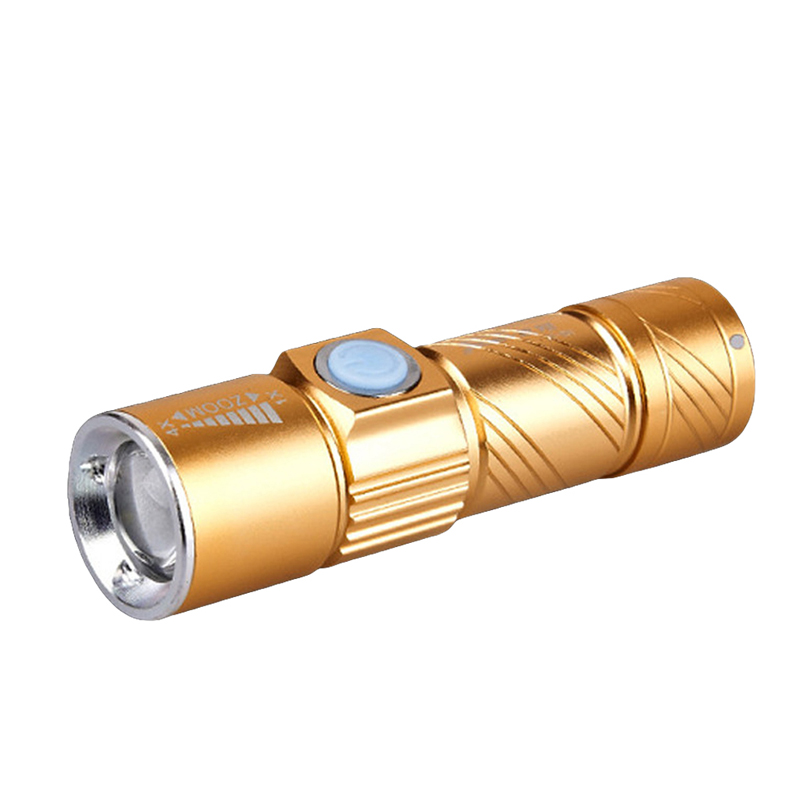 Rechargeable Q5 LED Mini Flashlight Torch USB Lamp 3-Mode Zoomable Hunting Light ручной фонарик mini torch mini torch galaxy usb