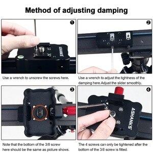 Image 2 - Ashanks 100 cm/39.37 카메라 슬라이더 알루미늄 합금 댐핑 슬라이더 트랙 dslr 또는 캠코더 용 비디오 안정기 레일 트랙 슬라이더