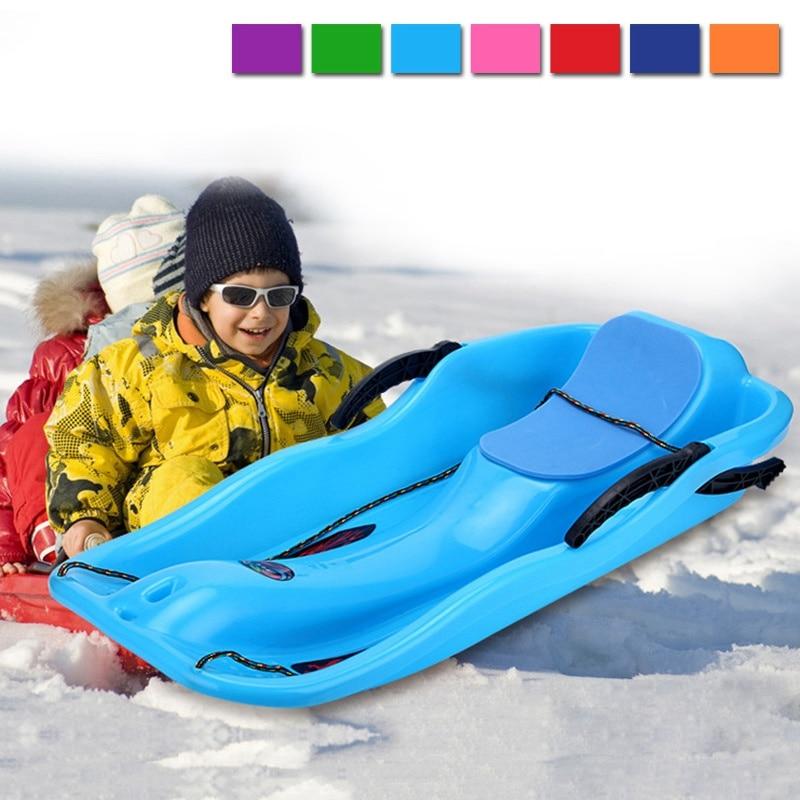 Traîneaux pour Enfants D'hiver En Plein Air Toboggan En Plastique Snowboard Conseil Adulte Neige Traîneaux Deux Freins Lumière Poids Épaissir Ski Pad