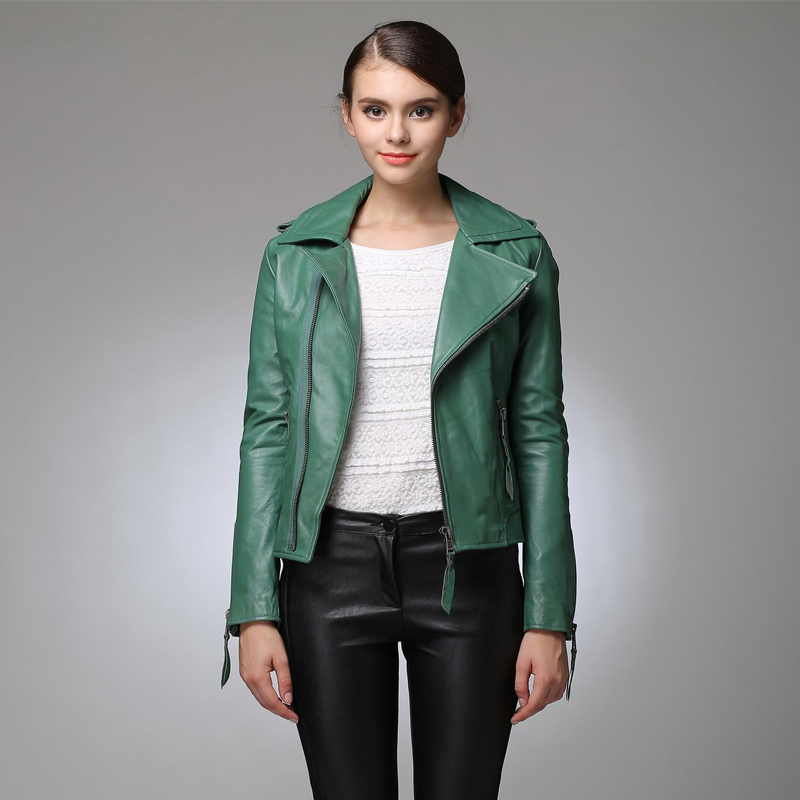 Green Leather Jacket Womens Photo Album - Reikian