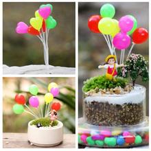 1 Pcs Mini Dolls Home Garden Simulation Colorful balloons Micro Landscape Figurines&Miniature Garden Decorations Christmas Gift