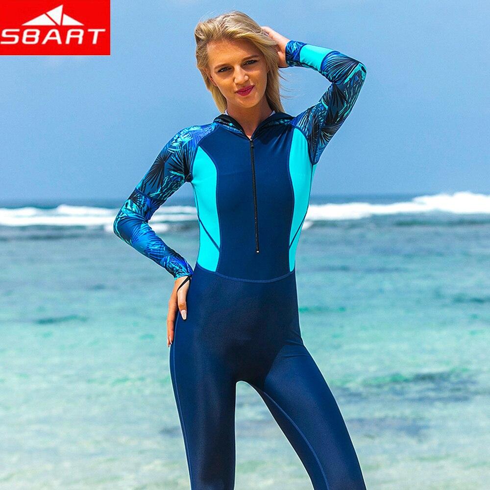SBART  long sexy womens zip cap diving suit, swimming, summer surfing, snorkelingSBART  long sexy womens zip cap diving suit, swimming, summer surfing, snorkeling