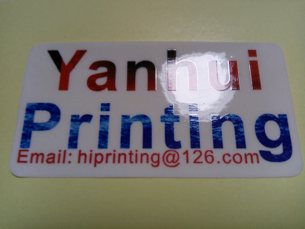 Custom white paper product label sticker printing