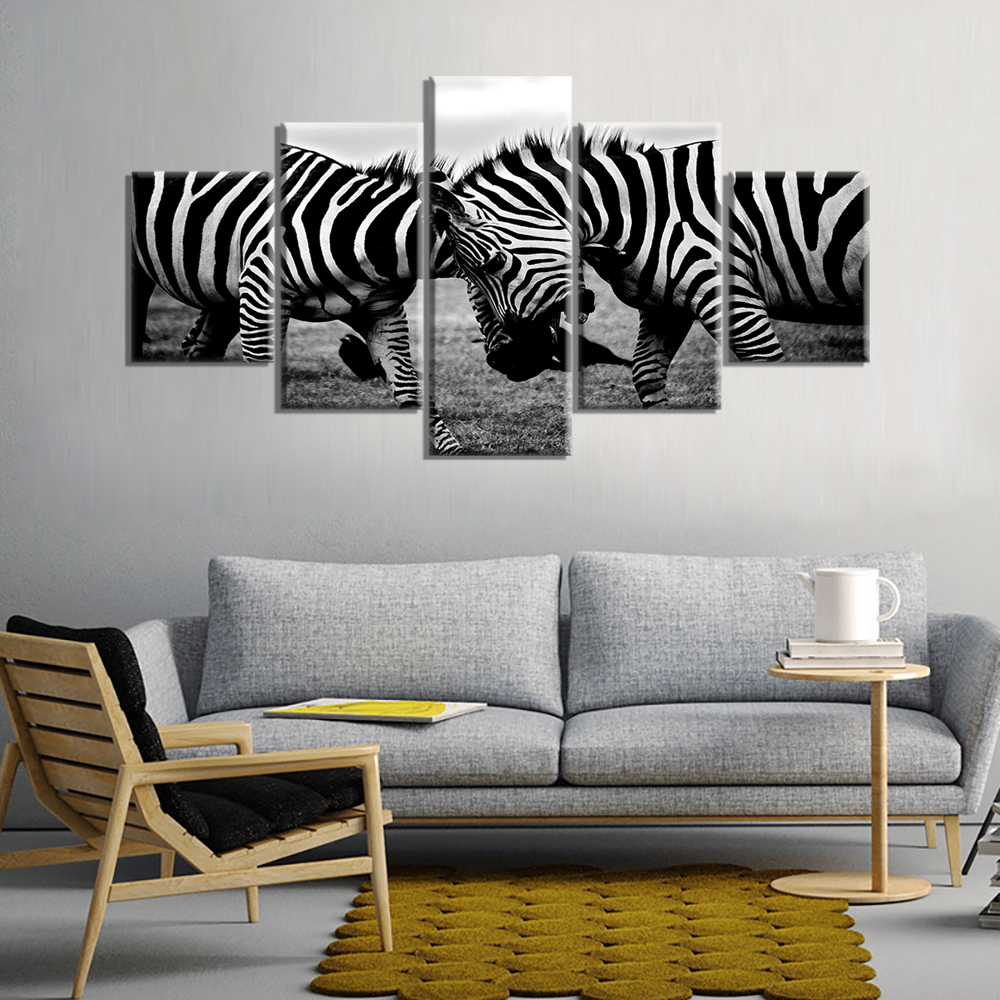 Online shop black and white gray zebras african wildlife wall art online shop black and white gray zebras african wildlife wall art modern canvas prints art home decor for living room pictures 5 panel large aliexpress amipublicfo Image collections