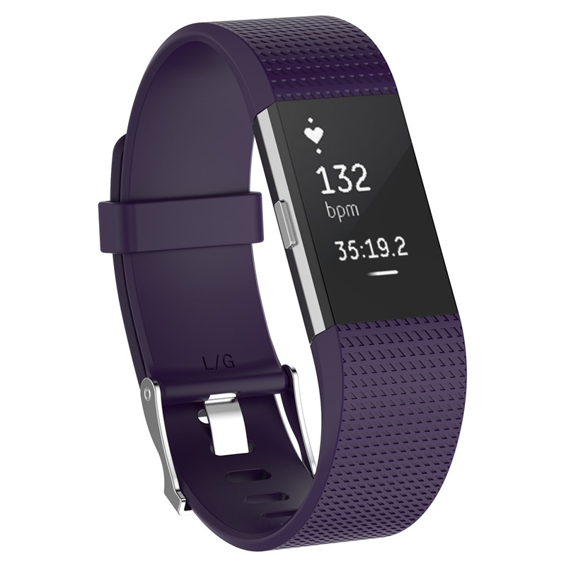 Wristband Wrist Strap Smart Watch Band Strap Soft Watchband Replacement Smartwatch Band For Fitbit blue YURIE2 17