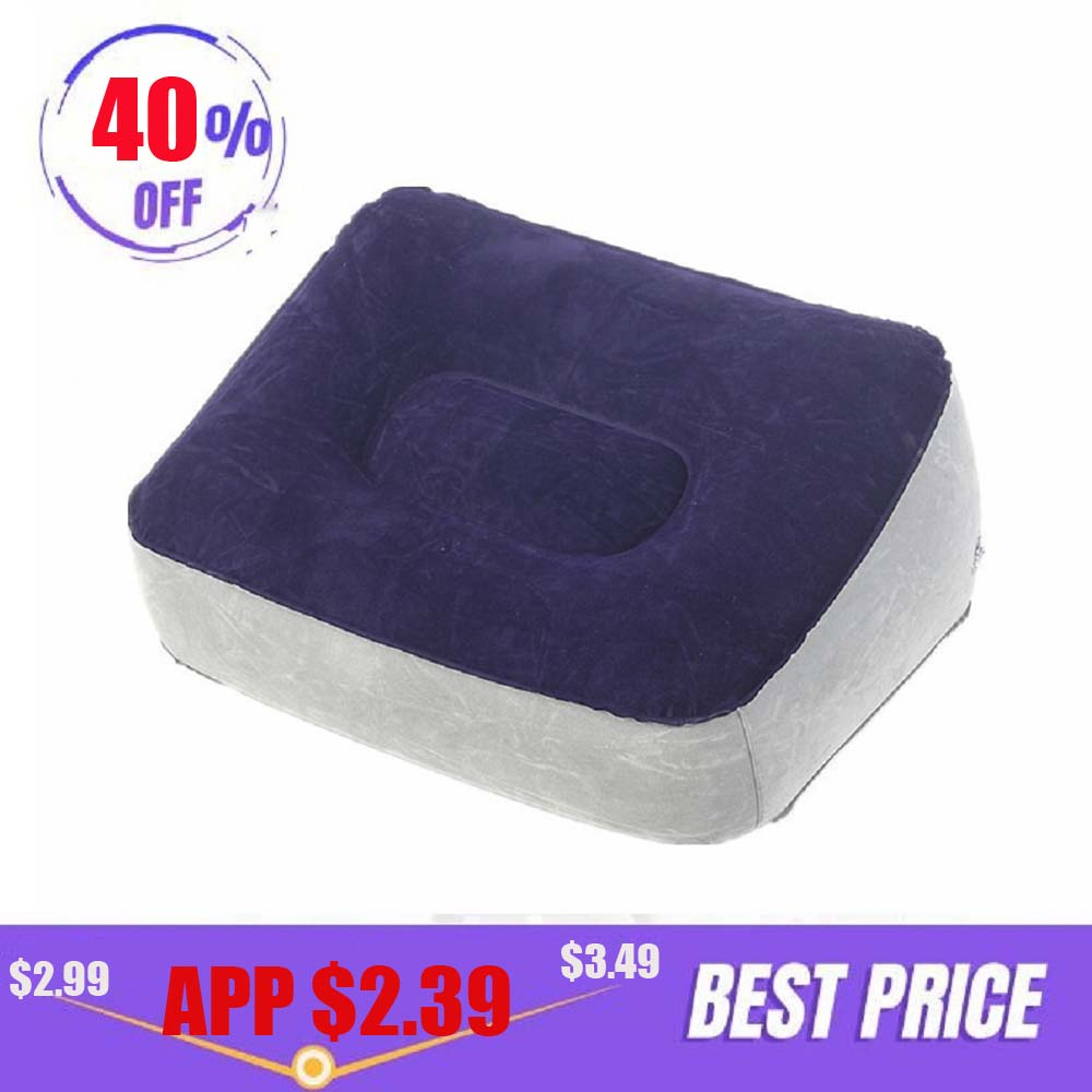 Inflatable Foot Rest Pillow Cushion Portable Pvc Air Kids Bed For Airplanes Travel Office Home Car Leg Up Relax Footrest Pillows