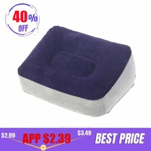 Inflatable Foot Rest Pillow Cushion Portable Pvc Air Kids Bed For Airplanes Travel Office Home Car Leg Up Relax Footrest Pillows цена