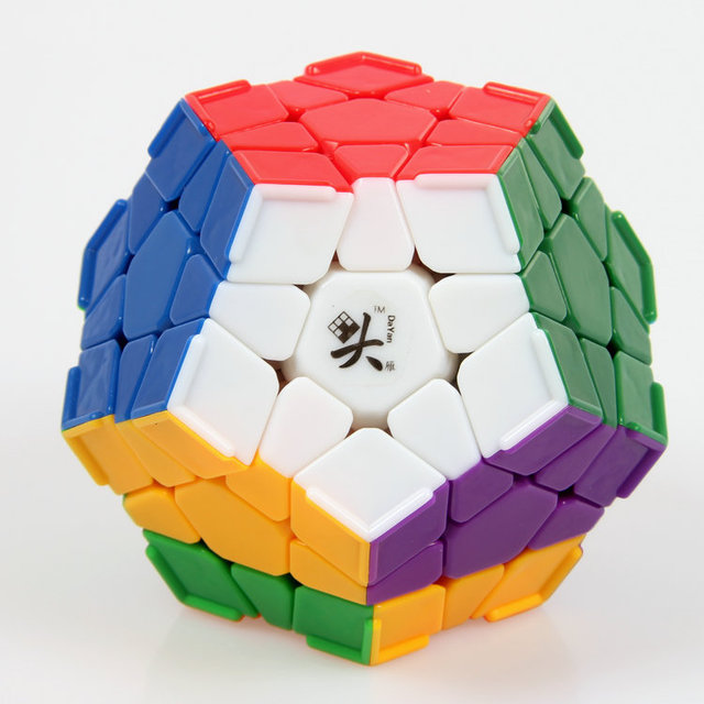 Marca Nueva DaYan Megaminx Dodecahedron Cubo Mágico con La Esquina Ridges Stickerless Velocidad Cubos Del Rompecabezas Juguetes para niños Niño