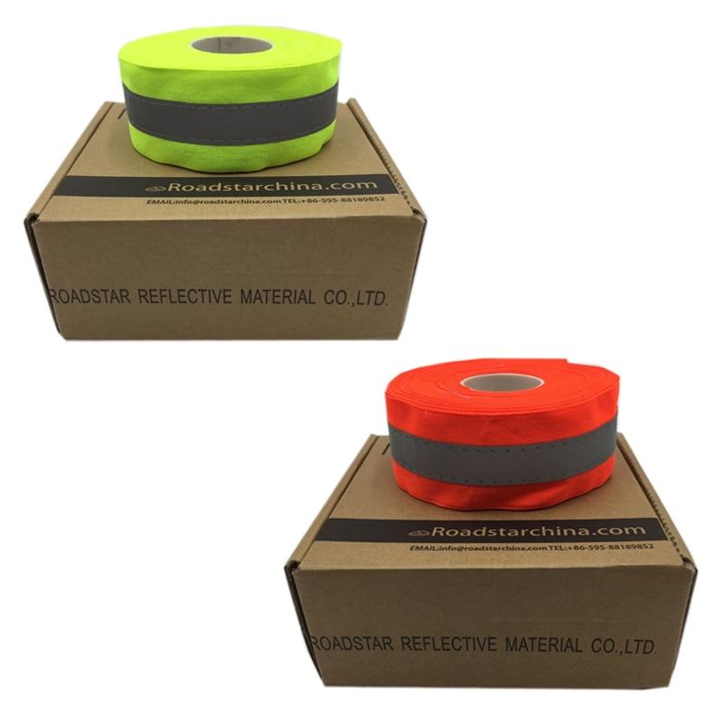 50 mm szélességű fluoreszkáló sárga és fluoreszkáló - Biztonság és védelem - Fénykép 6