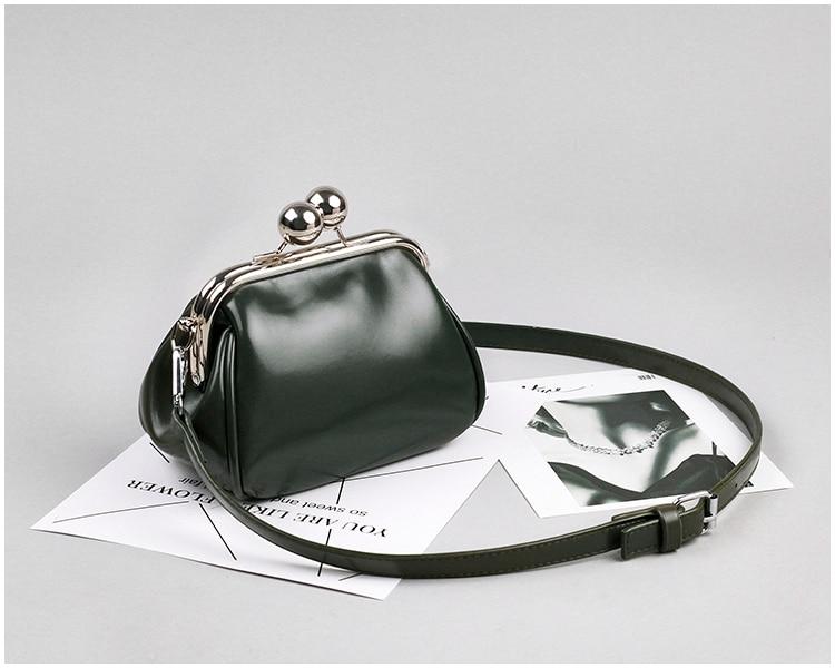 bags women leather shoulder crossbody bag women's handbag kiss lock bag (15)
