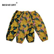 Loose Pants For Newborn Baby Boys Girls Clothing Full Length Cotton Toddler Infant Banana Printed Pant Soft Clothes