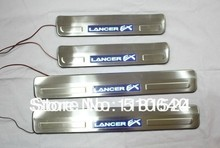 for 2010-2013 Mitsubishi Lancer/Lancer X/Lancer Evo With Blue LED light High quality stainless steel Scuff Plate/Door Sill