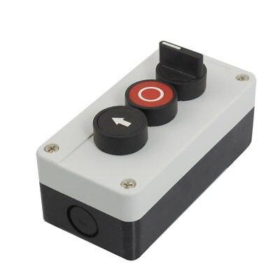 Мгновенный N/C N/O 2-положения селектора без красные, черные кнопочный переключатель станции