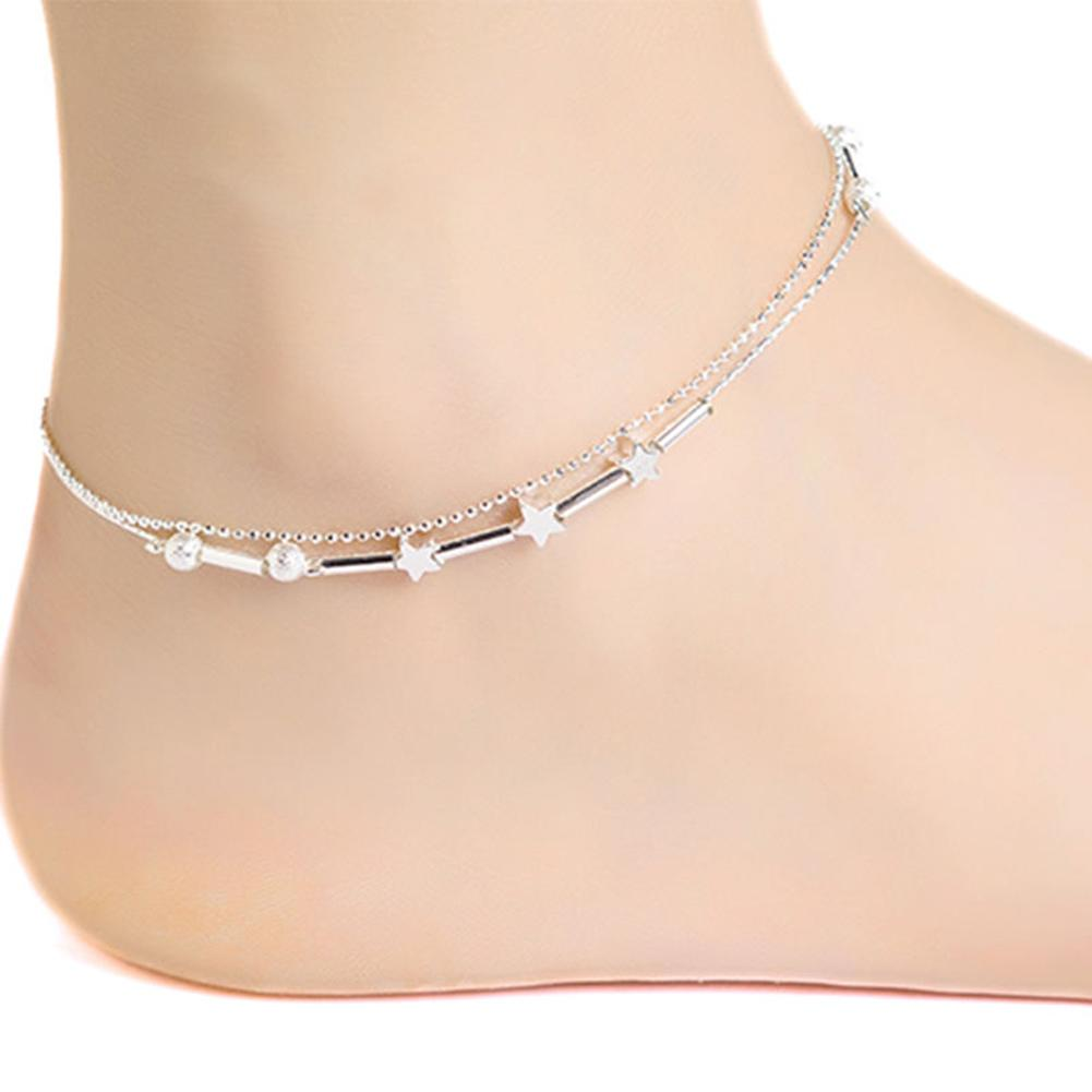Women Star Heart Beads Ankle Chain Bracelet Barefoot Sandal Anklet Foot Jewelry New