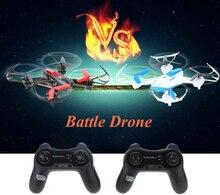 Lutador céu 1 Par (branco e preto) YD-822 2.4G 4CH 6-Axis Gyro RTF rc drone RC Quadcopter batalha com Infravermelho Função de Combate