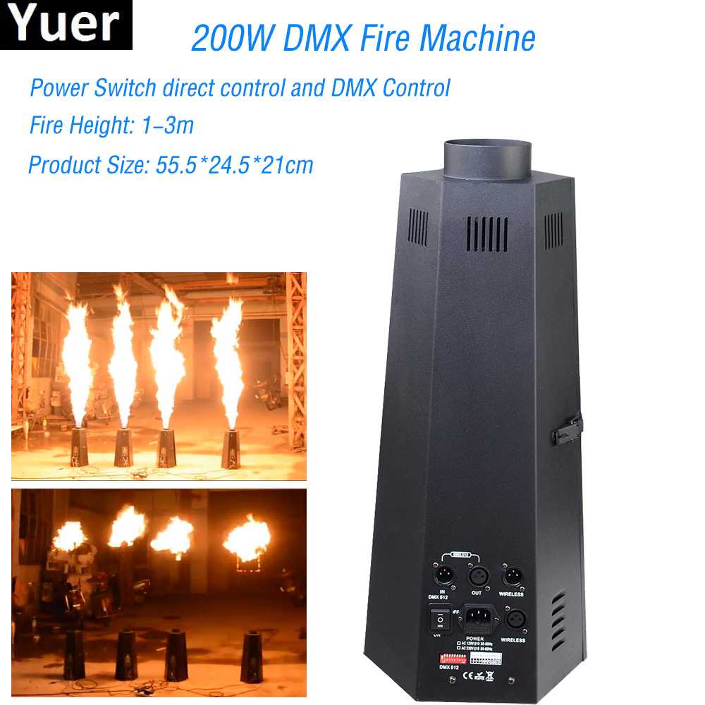 цена на Professional Equipment DJ 200W Six Corner DMX Fire Machine Stage Fire Fireworks Machine Flame Projector Disco Stage Effect