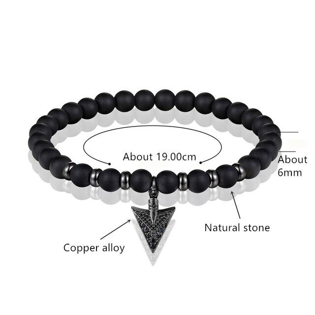 Купить женский эластичный браслет из обсидиана 2018