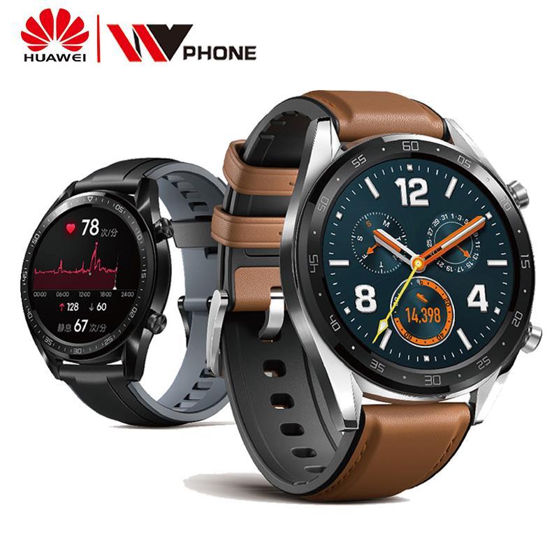 Huawei GT Relógio à prova d' água relógio Inteligente Phone Call Suporte GPS Freqüência Cardíaca Rastreador Para Android iOS