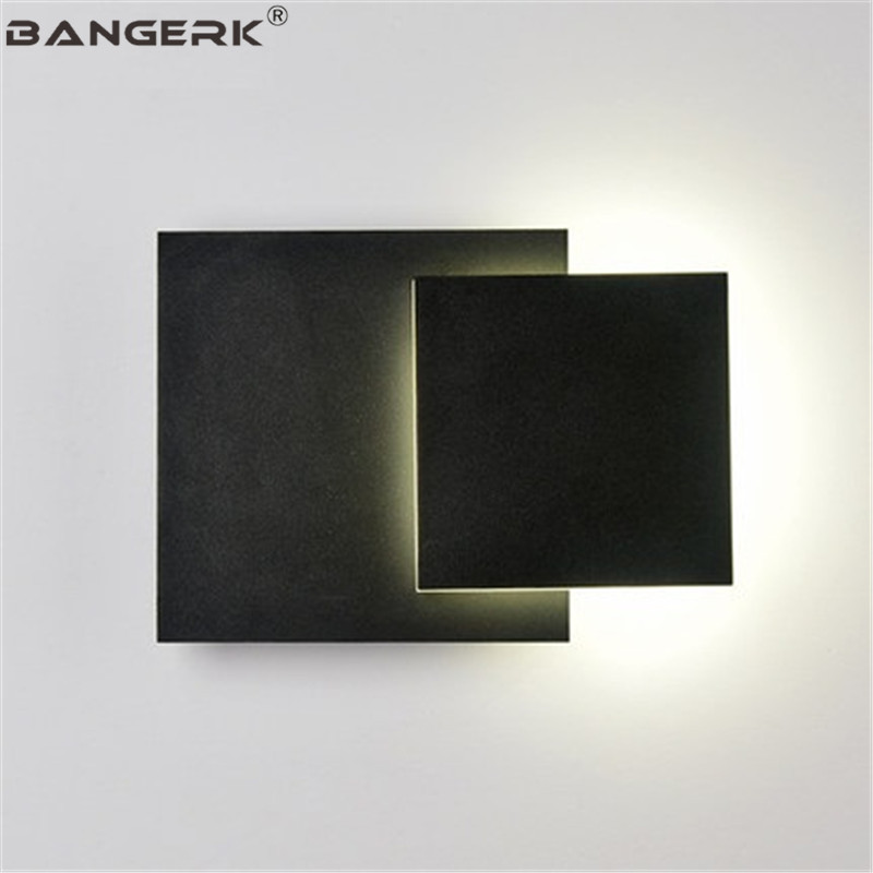DIY Creative Adjust Sconce Wall Light LED Iron Square Modern Bedside Wall Lamp Home Decor Nordic Design Lighting FixturesDIY Creative Adjust Sconce Wall Light LED Iron Square Modern Bedside Wall Lamp Home Decor Nordic Design Lighting Fixtures
