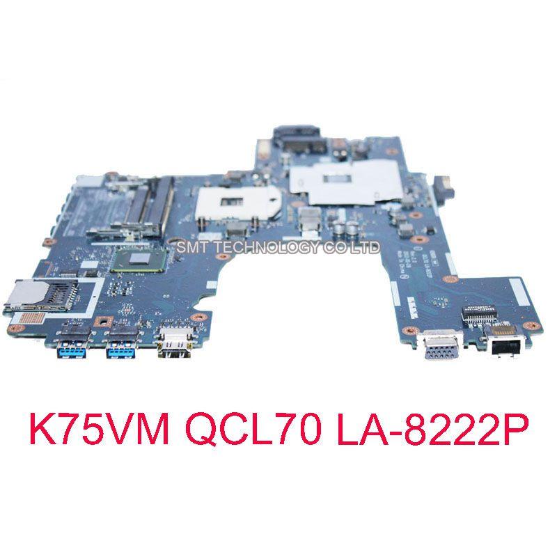 For Asus R700VM-TY140V motherboard k75vm R700VJ QCL70 LA-8222P Laptop Motherboard Best Quality