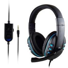 Xunbeifang auriculares para juegos de PS4, cascos para juegos por cable con micrófono