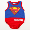 SUPERMAN BATMAN vest romper newborn baby sleeveless triangle infant fashion jumpsuit