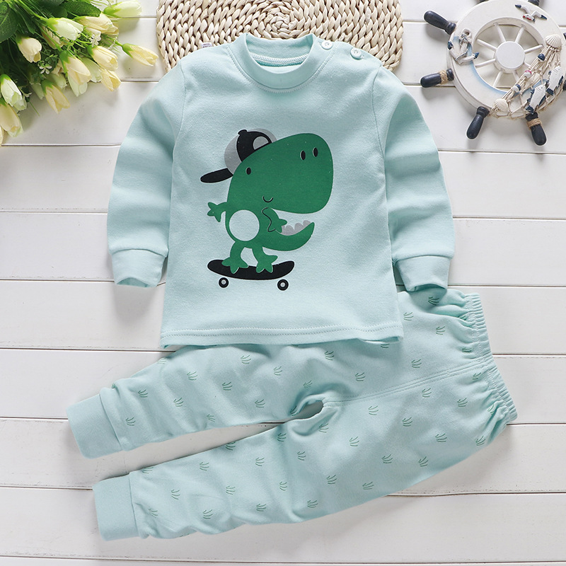 2019 Autumn New Baby Clothing Set Cartoon Cotton Baby Boys Clothing Girls Suit Set 0-3 Year Baby Clothes