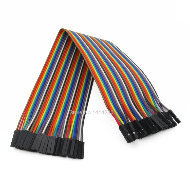купить Dupont line 40Pcs 30cm female to female jumper wire Dupont cable for Arduino по цене 102 рублей
