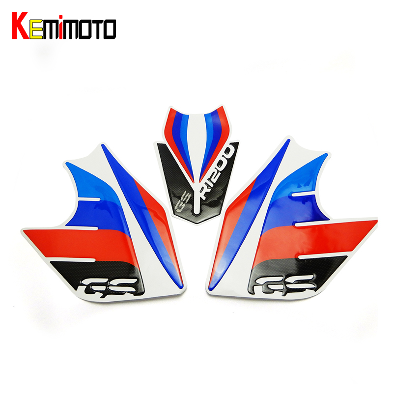 KEMiMOTO For BMW R1200GS Whole Vehicle Decals Stickers Fit For R 1200 GS 2013 2014 2015 2016 r1200gs after market акрапович для бмв r1200gs 2013