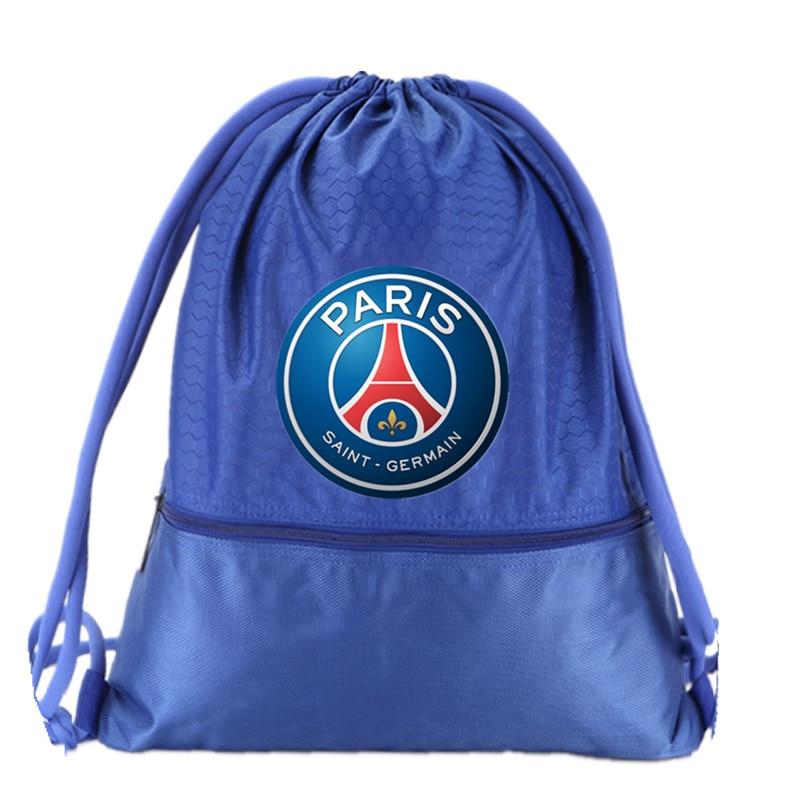 Drawstring Soccer Bag Paris Saint Germain Football Clubs Swerve Gym Bag Backpack Sport Bag Advanced Waterproof