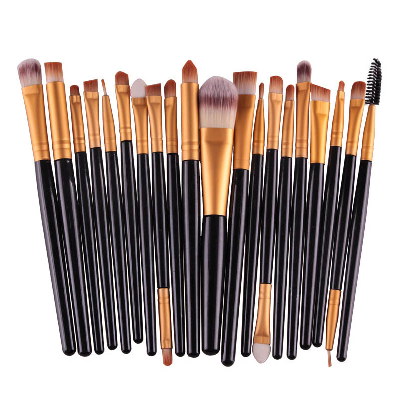 20Pcs Cosmetic Makeup Brushes Set Powder Foundation Eyeshadow Eyeliner Lip Brush Tool Brand Make Up Brushes Beauty Tools msq 8pcs makeup brushes comestic powder foundation brush eyeshadow eyeliner lip beauty make up brush tools eye brush set