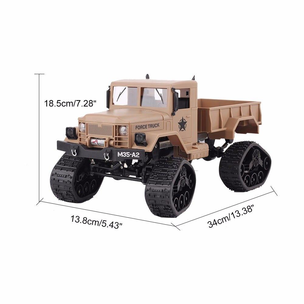 2.4G pilot zdalnego sterowania wspinaczka Model samochodu dla dzieci RTR 1/16 pilot wojskowy ciężarówka 4 koła jazdy Off Road RC Model chłopiec prezent zabawka w Samochody RC od Zabawki i hobby na  Grupa 2