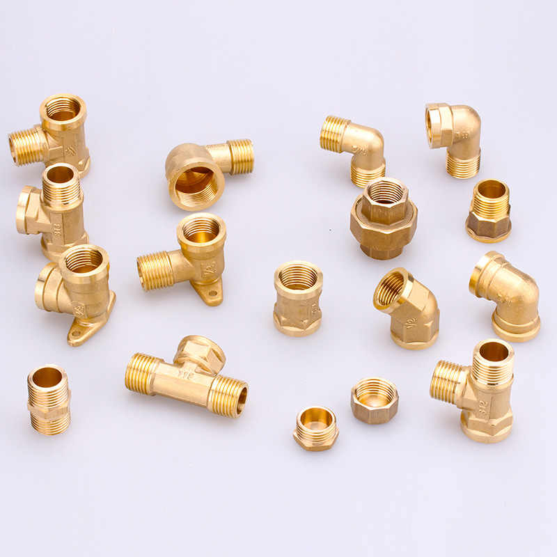 Copper tube internal thread copper hose three-way reverse osmosis copper tube connector water pipe fittings 6 to 4  barb