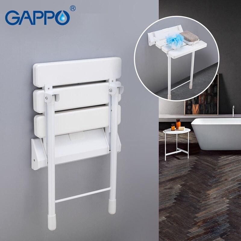 GAPPO Wall Mounted Shower Seats shower folding seat wall mounted shower seat toilet ajustable stool bath