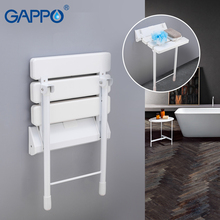 GAPPO Wall Mounted Shower Seats shower folding seat wall mounted shower seat toilet ajustable stool bath shower bench недорого