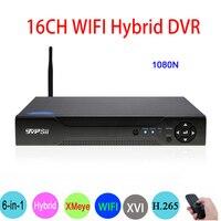 1080 P/960 P/720 P Dahua Камеры Скрытого видеонаблюдения 1080N 16CH 6 in1 H.265 Wi Fi гибрид коаксиальный XVI NVR CVI TVi аналоговая камера высокого разрешения, система