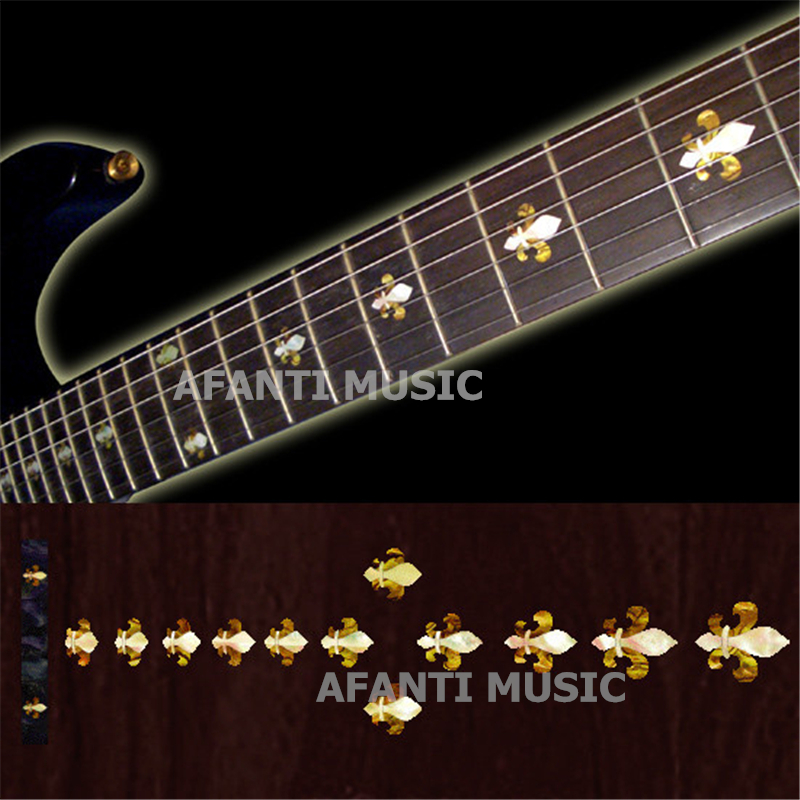 Afanti music Guitar Finger Board sticker / Shell sticker / personality guitar Decoration Inlay (FPD-115) afanti music gib es335 style 4 strings bass guitar es335 b27