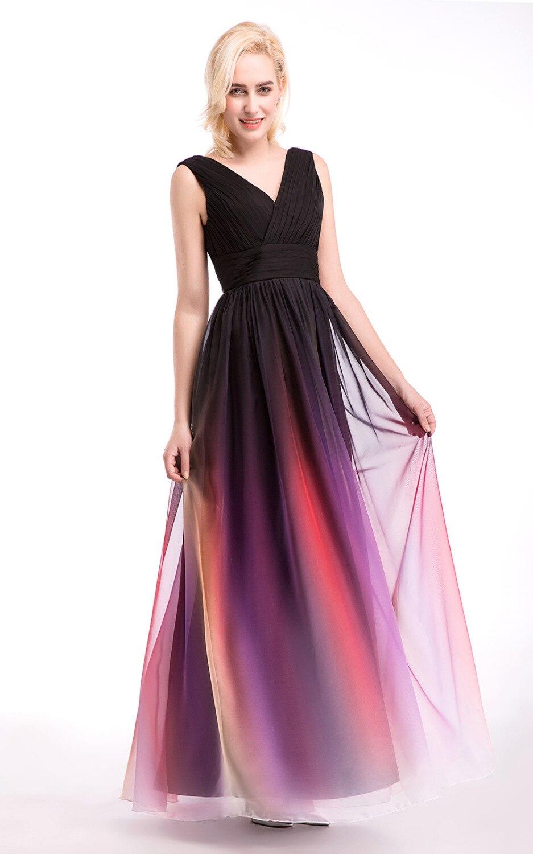 Šifon Vjenčanje party djeveruša haljina vestido de dama de honra - Vjenčanje večernje haljine - Foto 3