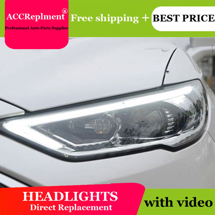 AUTO PRO headlights for ford mondeo 2017 led light bar Q5 bi xenon lens led high